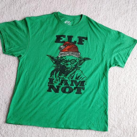 Yoda Elf I Am Not Christmas T-Shirt